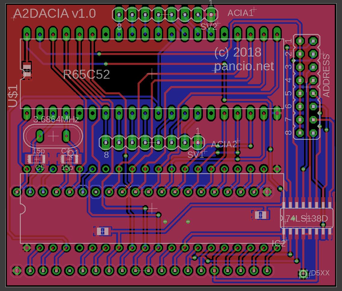 A2DACIAv1.0 PCB