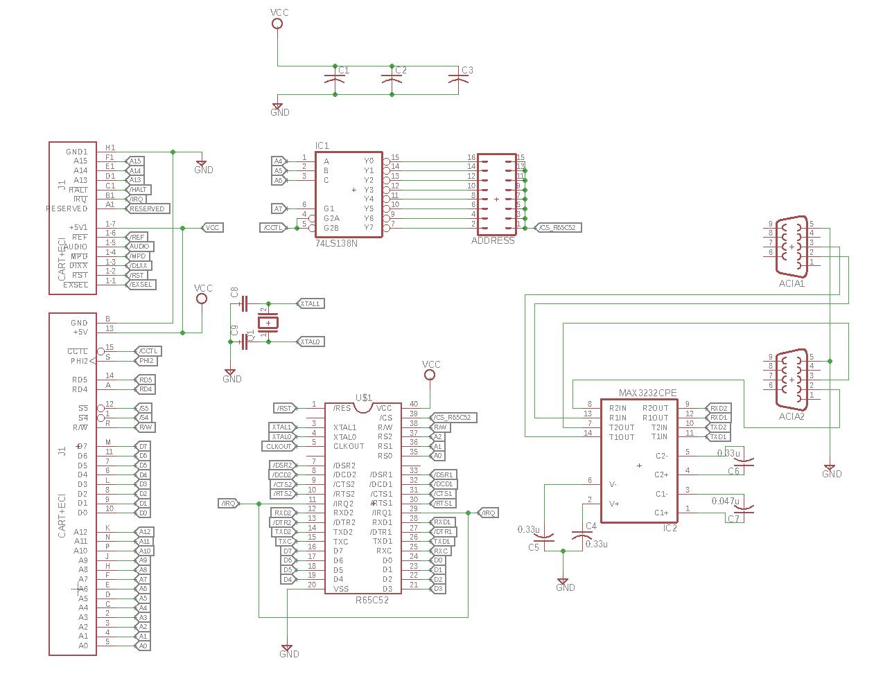 A2DACIA CART+ECI Schematic