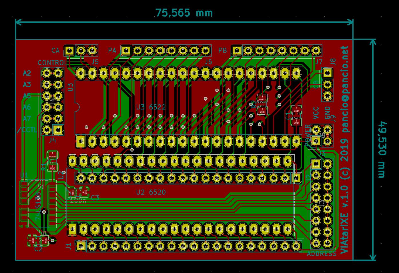 VIAtariXE 1.0 PCB